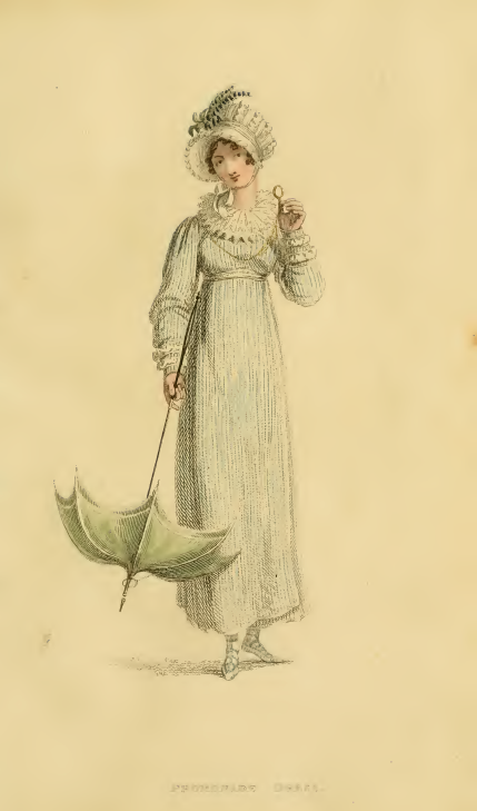 Ackermann's Fashion Plate, August 1815: Promenade Dress