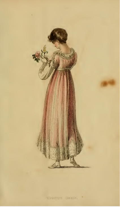 Ackermann's Fashion Plates, May 1815, plate 25: Evening Dress