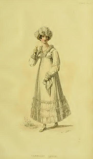 Ackermann's Fashion Plates September 1815, plate 17: Carriage Dress