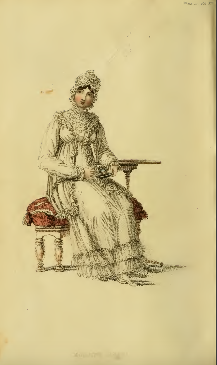 Ackermanns October 1815 plate 22: Morning Dress