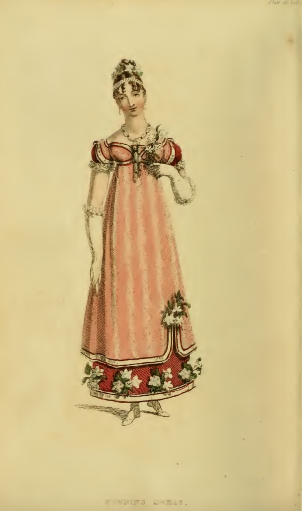 Ackermann's Fashion Plates December 1815: Evening Dress