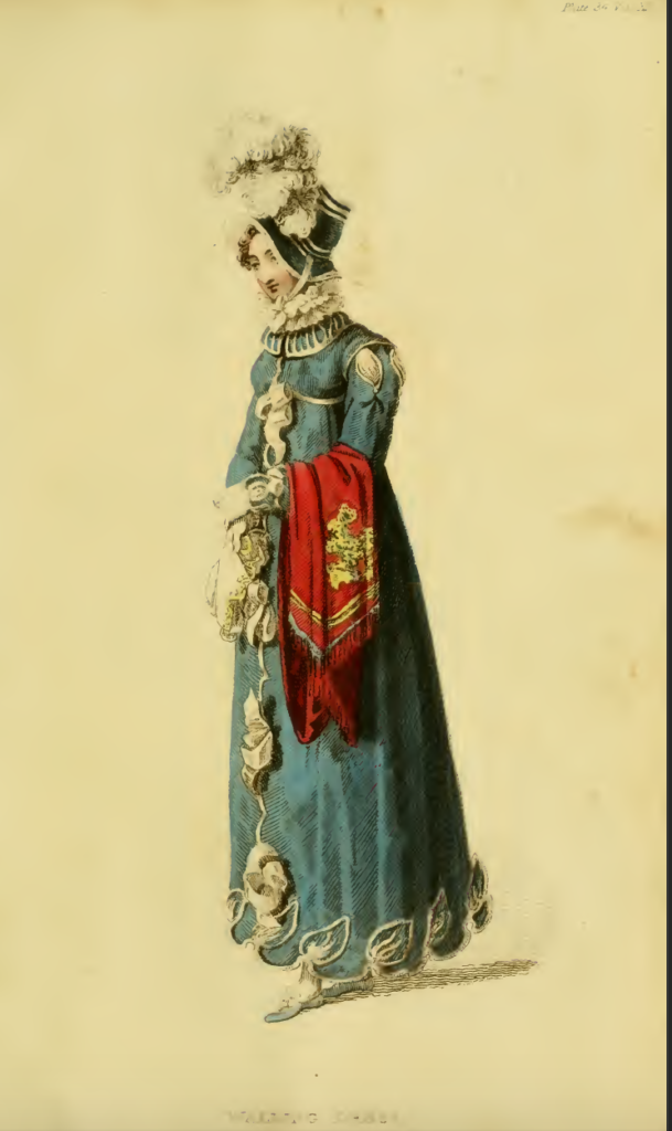 Ackermann's Fashion Plates December 1815: Promenade dress