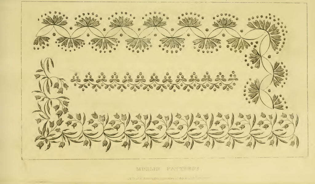 Ackermann's Repository, January 1816: Muslin Patterns