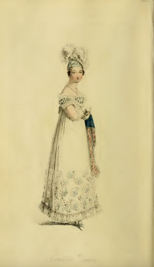 Ackermanns Fashion Plates February 1816, plate 10: Evening Dress