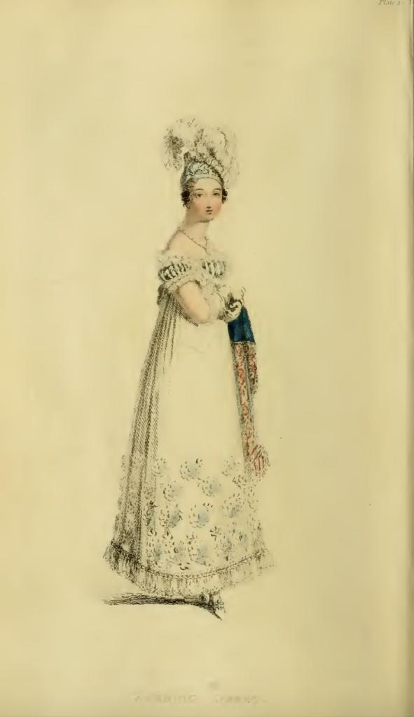 Ackermanns Fashion Plates February 1816, plate 10: Evening Dress