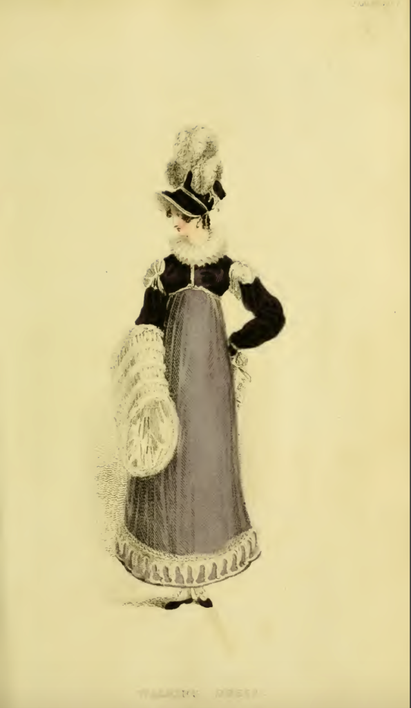 Ackermann's Fashion Plates February 1816, plate 11: Promenade Dress