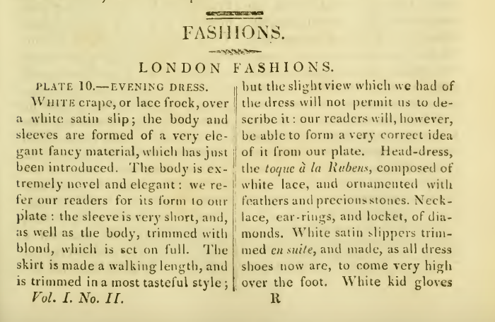 "Ackermann's Repository February 1816: ""Ladies Fashions"""