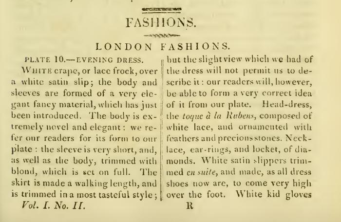 """Ackermann's Repository February 1816: """"Ladies Fashions"""""""