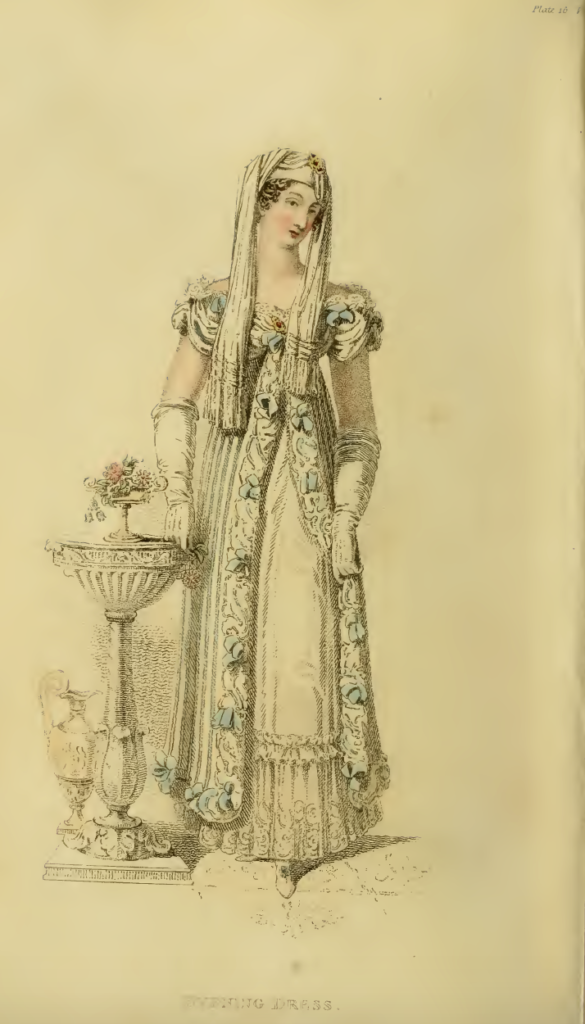 Ackermann's Fashion Plate 16, March 1816: Evening Dress