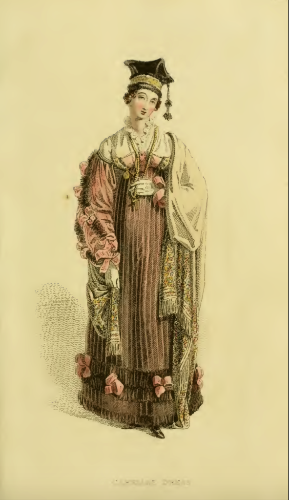 Ackermann's Fashion Plate 17, March 1816: Carriage Dress