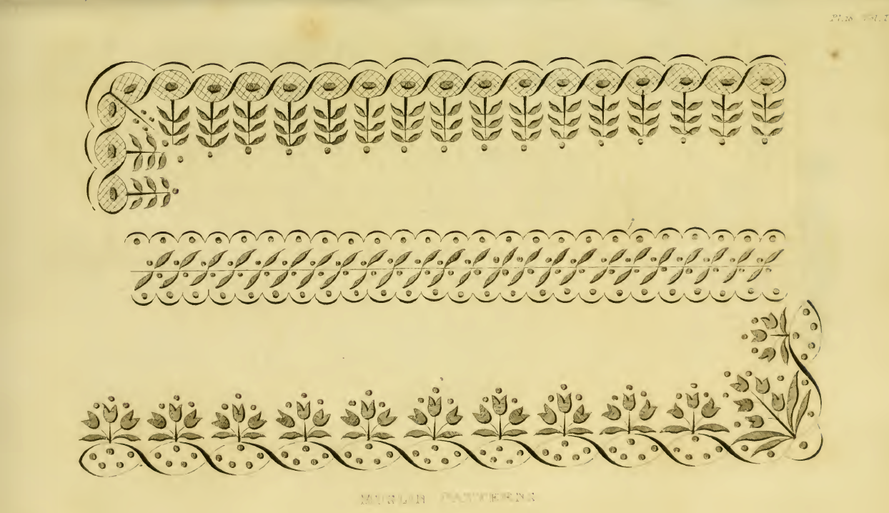 Ackermann's March 1816 needlework patterns