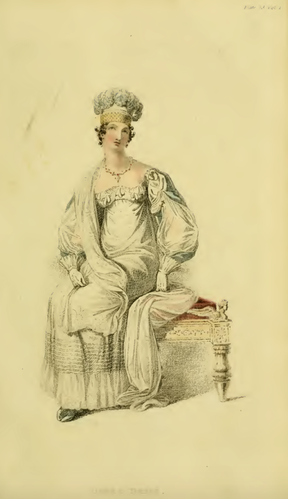 Ackermann's April 1816 plate 23, Opera Dress