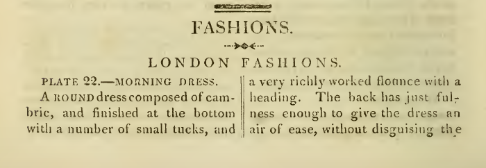 Ackermann's April 1816 London Fashions