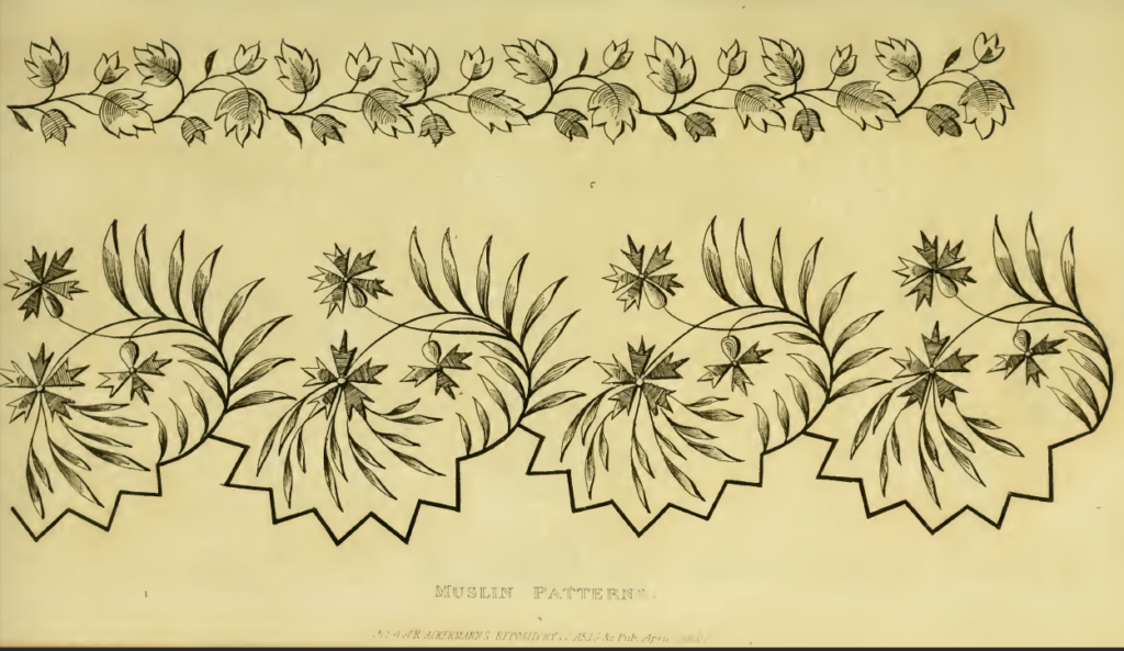 Ackermann's April 1816 muslin pattern