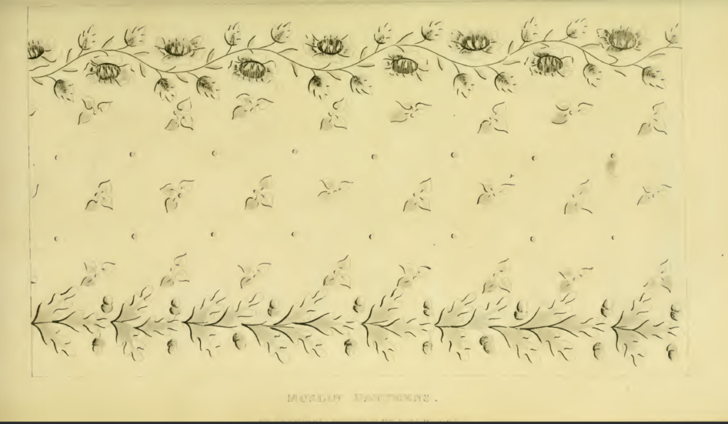 Ackermann's May 1816 Muslin pattern