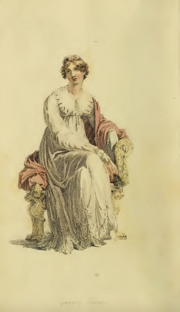 Ackermann's July 1816 Plate 4: Opera Dress
