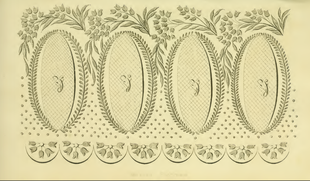 Ackermann's July 1816 Needlework patterns