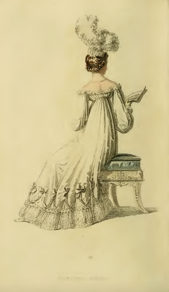 Ackermann's August 1816, plate 10: Evening Dress