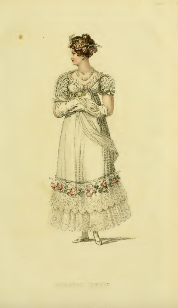 Ackermann's September 1816 Fashion Plate 17: Evening Dress