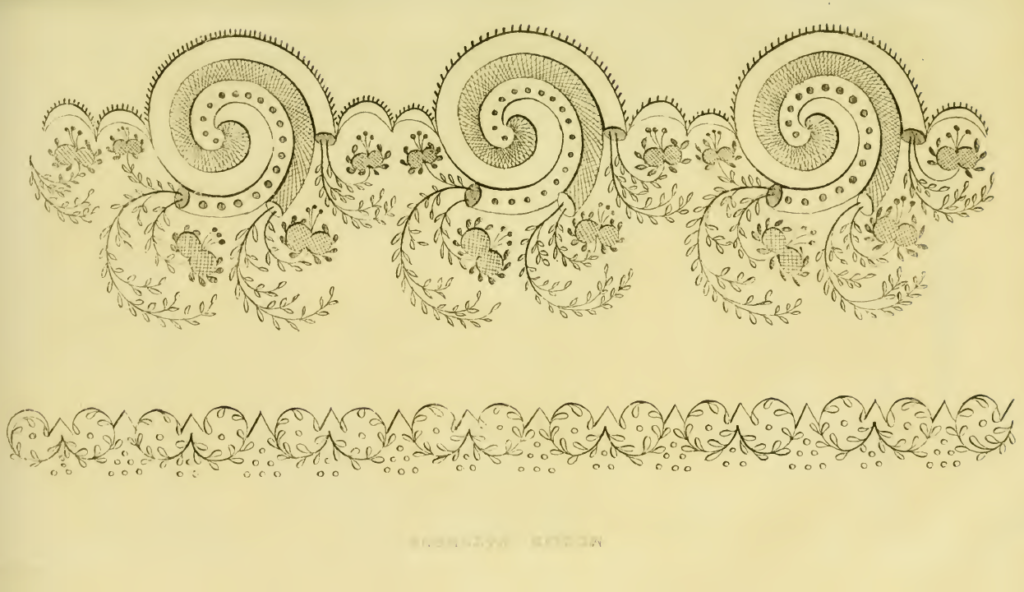 Ackermann's September 1816 Pattern for Needle-Work