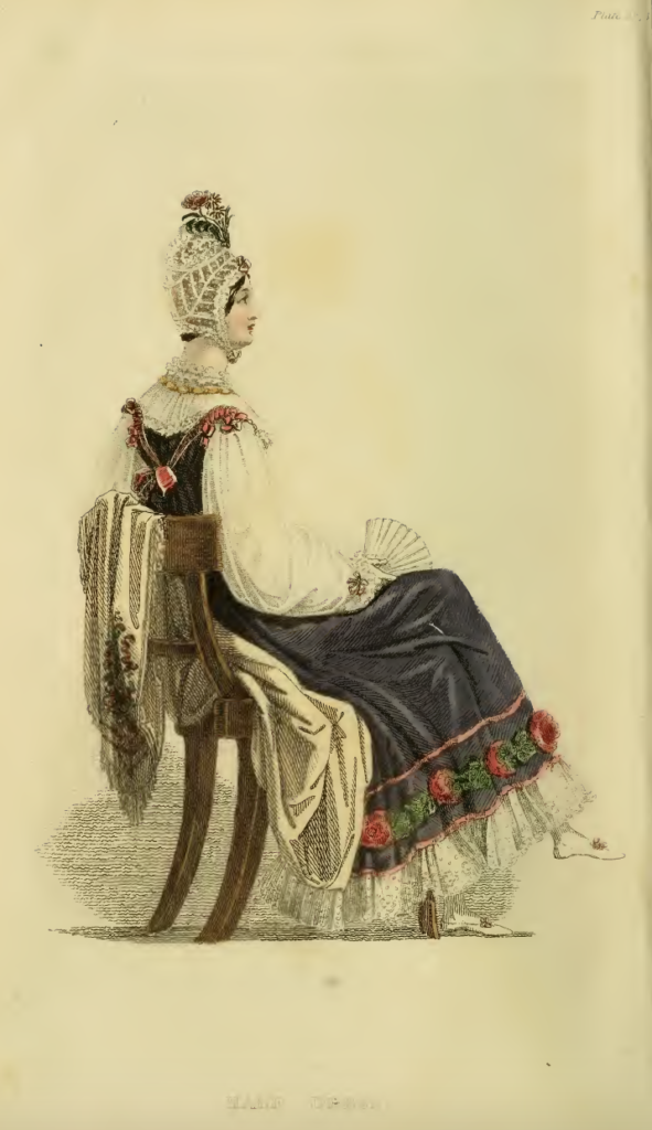 Ackermann's October 1816, plate 23: Half-Dress