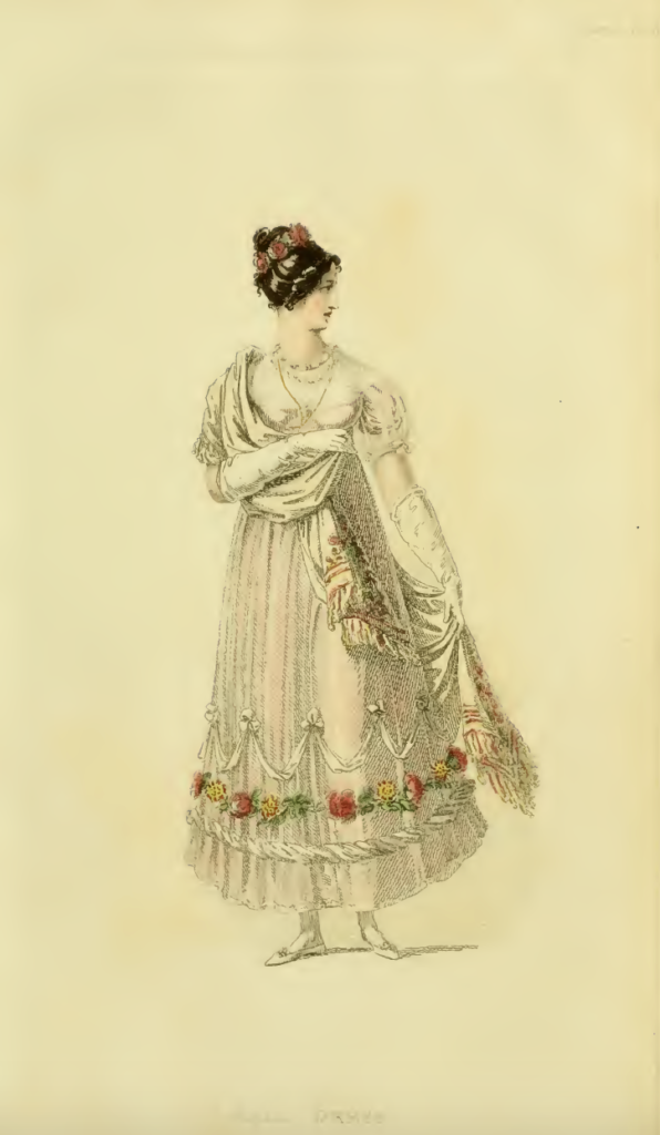 Ackermann's October 1816, plate 23: Ball Dress