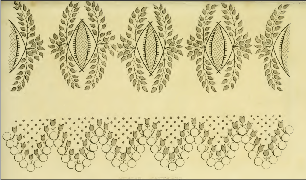 Ackermann's October 1816 Needle-work patterns