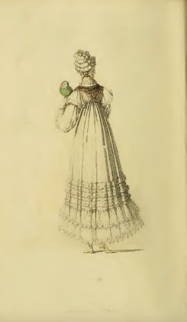 Ackermanns fashion plate November 1816: Morning Dress