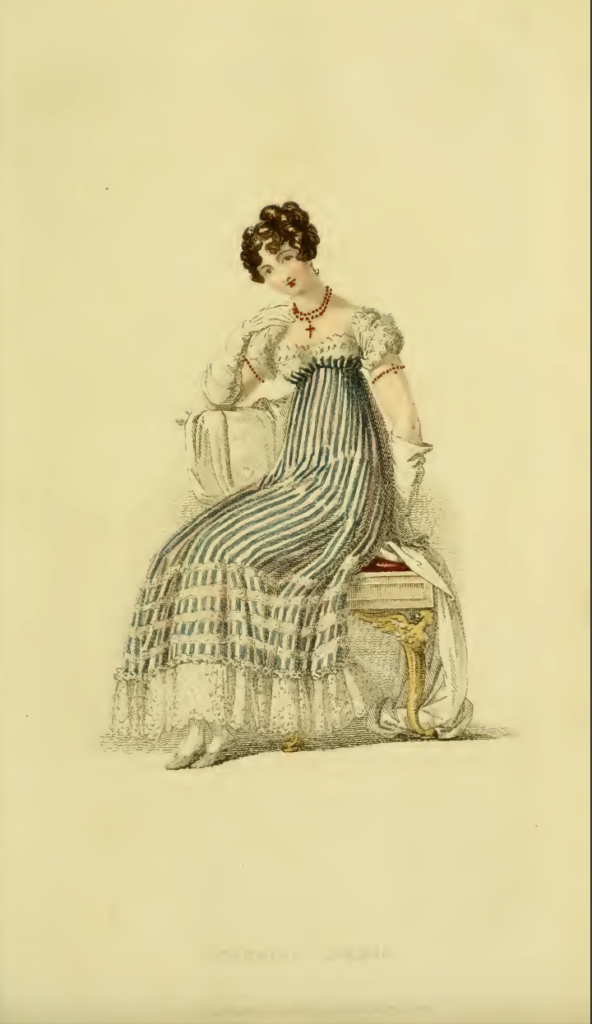Ackermann's Fashion Plates November 1816: Plate 29, Evening Dress