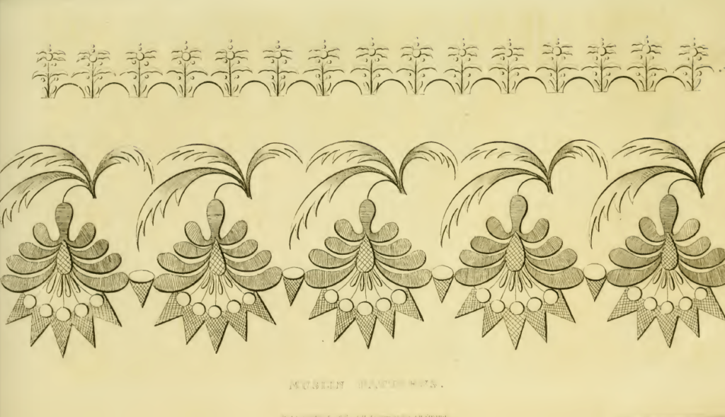 Ackermanns November 1816 muslin patterns