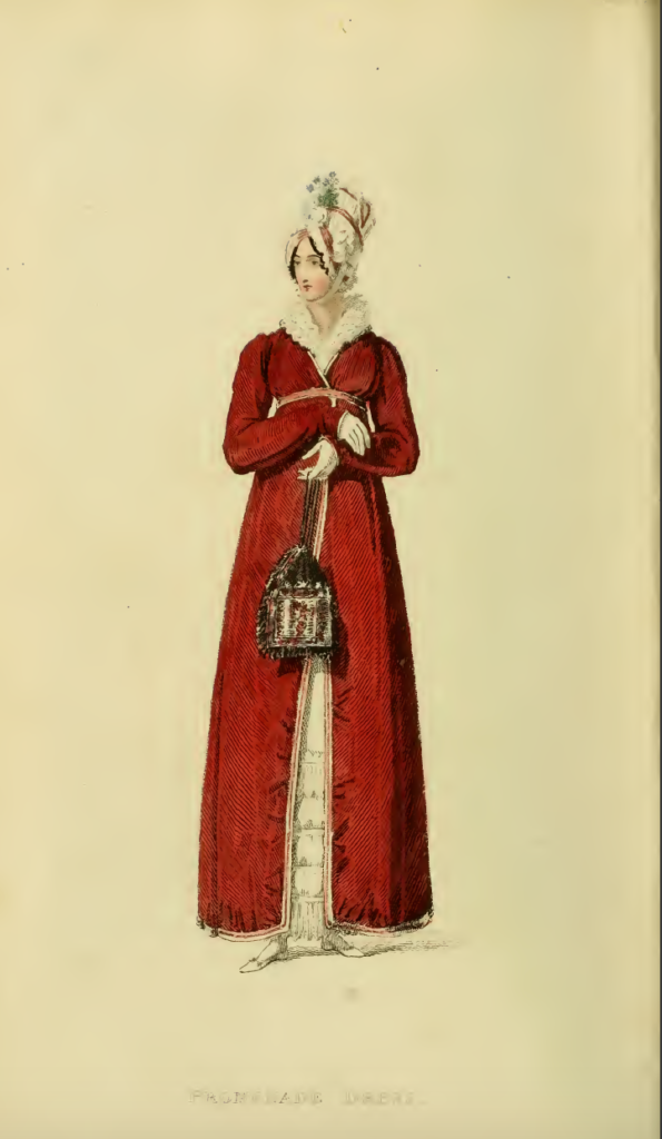 Ackermann's Fashion Plates December 1816, Plate 36: Promanade Dress