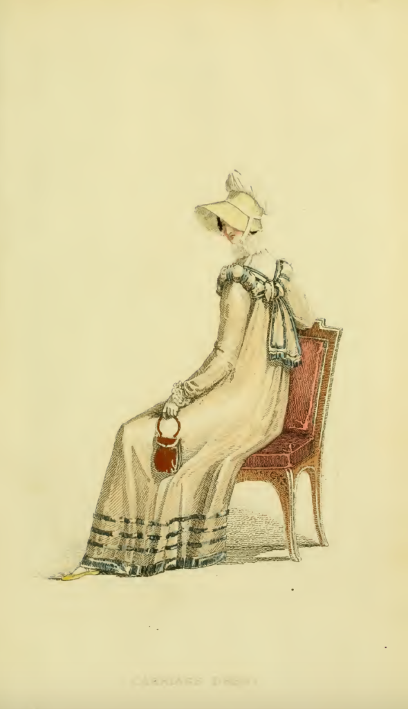 Ackermann's fashion plates December 1816: Plate 35, Carriage Dress