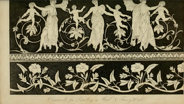 Ackermann's January 1817: Ornaments for painting on fancy work